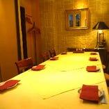 (ルッコラ)8〜10名様向けの完全個室です。