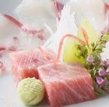 海の幸・山の幸 食材も厳選して仕入れております。