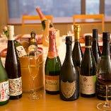 ワインや日本酒も豊富にご用意しております。
