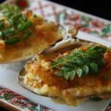 地ハマグリと筍のオーブン焼き ガーリック風味