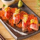 豪華うに・いくら盛り肉寿司