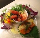 鮮魚のカルパッチョ盛り合わせ