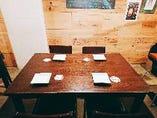 ◆4名様テーブル [3~4名様の飲み会・女子会に最適]
