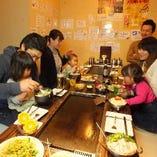 【掘りごたつあり】 お子様連れでのお食事にも人気のお席です