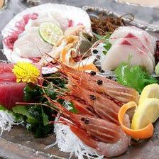 厳選魚介は刺身・寿司・炭焼きで満喫