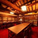 【2階】大正ロマンの雰囲気溢れるテーブル席完全個室(~20名様)