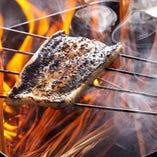 料理人が丹念に焼き上げる『うなぎ』など焼物もぜひ堪能ください