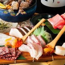 長浜市場より届く旬魚を心ゆくまで