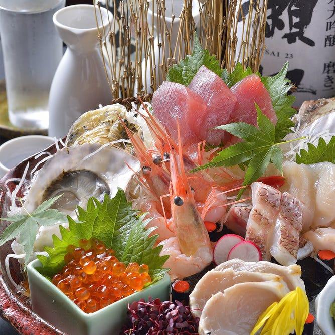 【贅沢で満腹!】葱サバと香味野菜の土鍋酒蒸しと豪快漁師盛りコース《120分飲み放題付》4500円