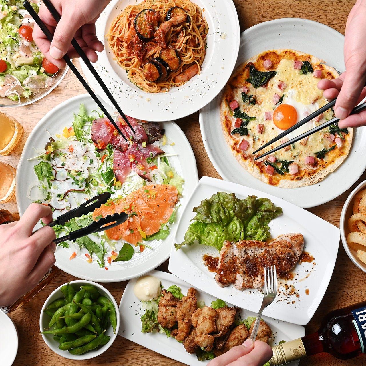 飲み放題付宴会コース3,500円~!地元食材をお楽しみください