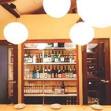 自慢のウォークイン日本酒セラー