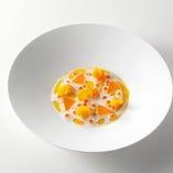 抽象画のような佇まいで、食材の旨味を引き出した逸品