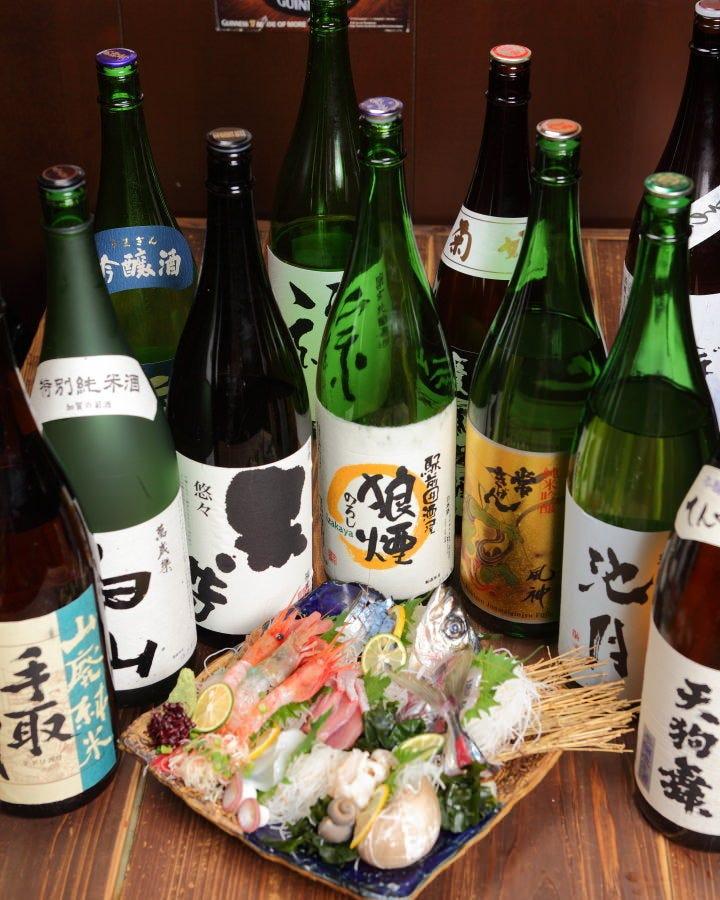 石川の地酒や豊富な焼酎がオススメ◎