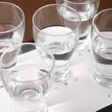 越後地酒の飲み比べ