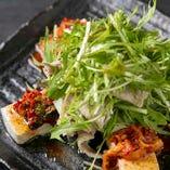 豆腐とキムチの韓国風サラダ
