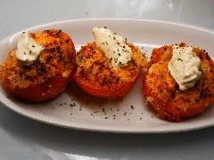 トマトと生ハムのパン粉焼き