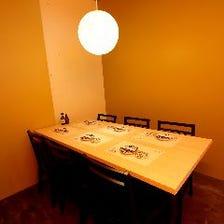 個室を2室ご用意 ※個室料頂きます