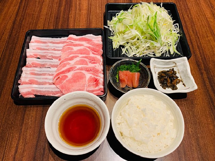 ランチ「黒豚しゃぶしゃぶ定食」¥1,000