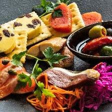 厳選した県産食材を燻製創作料理で!