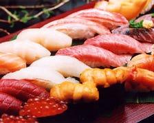 50種以上の高級江戸前寿司が食べ放題