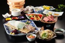新鮮魚介を使った会席料理