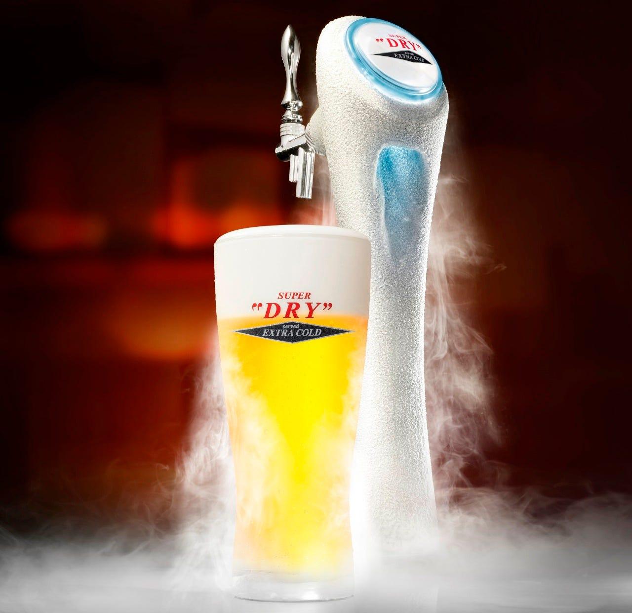 冴えわたるキレを愉しめる キンキンの氷点下ビール
