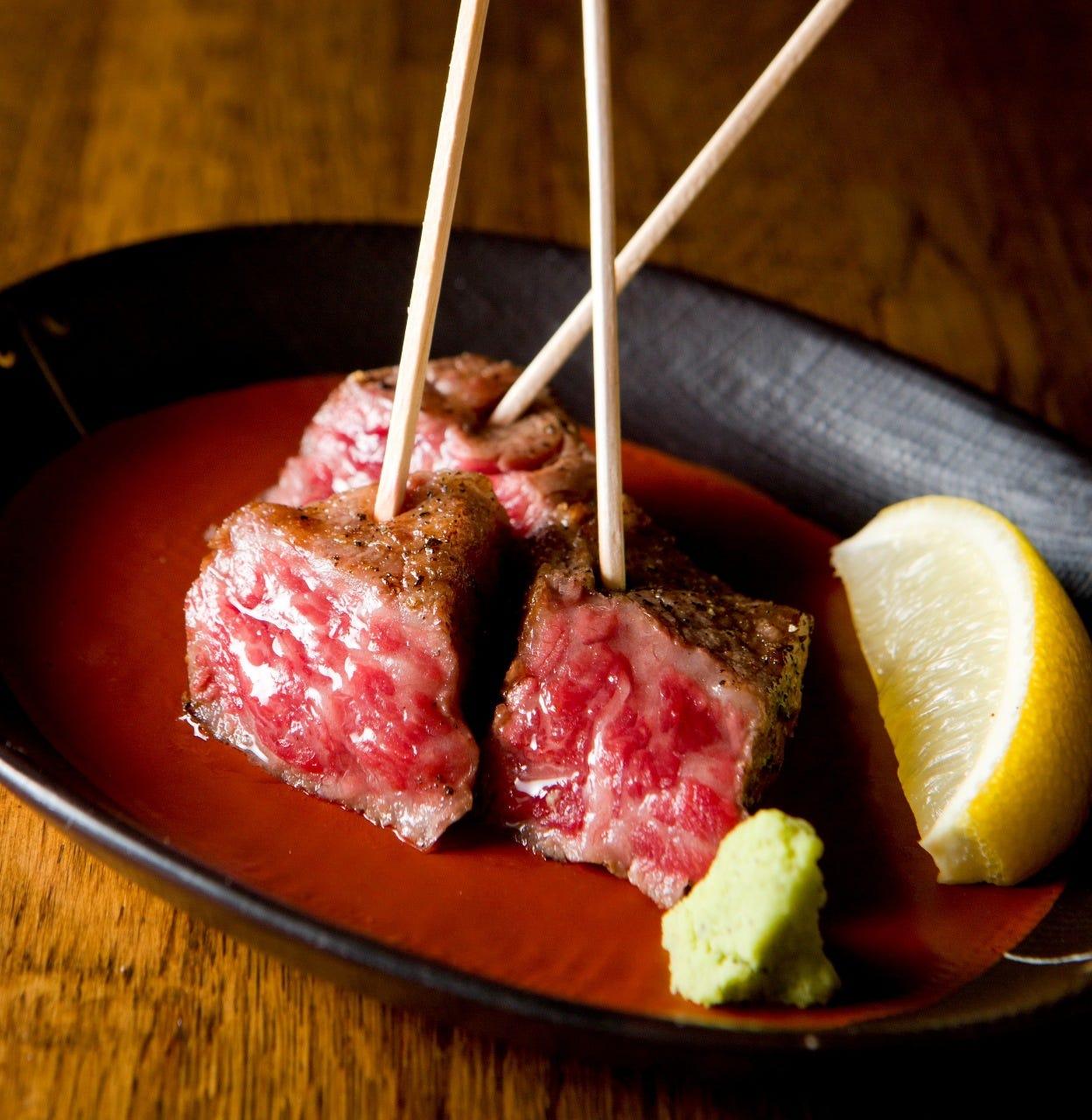 極上の米沢牛を串もので 少量からお愉しみ頂けます