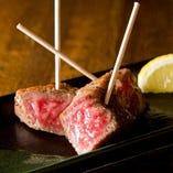山形牛の串ステーキ