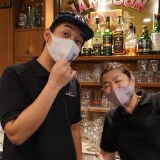 マスクの下は笑顔です(^-^)