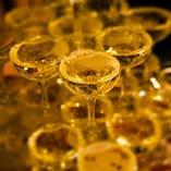 シャンパンタワーでパーティーをゴージャスに☆