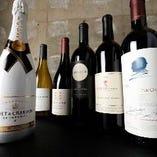 リーズナブルな物からハイクラスな物まで幅広く【多国のワインが楽しめる】