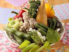 旬の野菜で、焼き物、天ぷらなど~