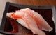 お通しは握り寿司が多いです。 写真は金目鯛の握り!