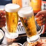 生ビールも飲み放題!宴会コースは3,000円(税込)~ご用意!