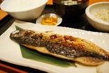 文化鯖の塩焼き定食ランチ