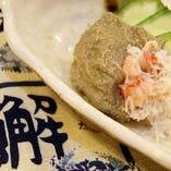 肴カニ味噌☆味濃いめ530円(+税)