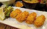 広島産カキフライ定食ランチ