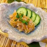 梅水晶☆高級品☆サメの軟骨の梅肉和え580円(+税)