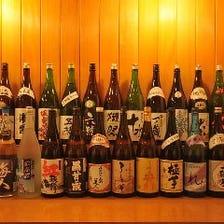 厳選日本酒 常時24種毎月新種入荷