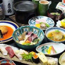 名物藁焼きに四季の鮮魚。産地直送の郷土料理を味わう鮨会席『6,050円コース』