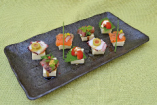 ・クリームチーズ豆腐のビンチョス風