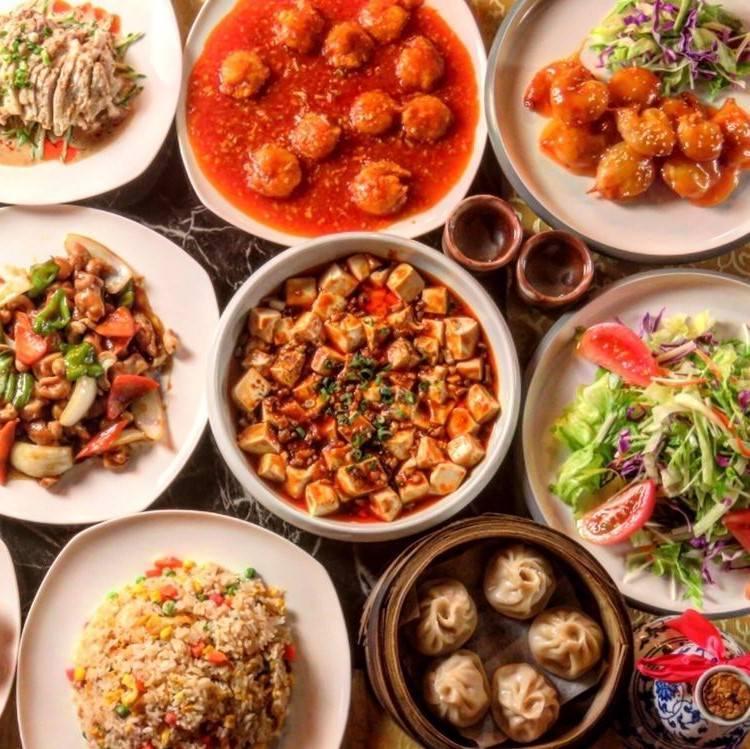 【2H飲み放題付】お気軽宴会♪自家製餃子・麻婆豆腐など全9品『中華コース』2700円