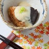 美星豚と自家製ゴマ豆腐の冬瓜あんかけ