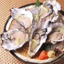 本日の特選生牡蠣(5個)~ポン酢添え~