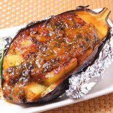 香川県産三豊ナスの自家製コク味噌焼き