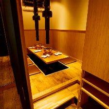 [接待・会食]6名様迄対応の個室完備