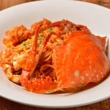 歴代人気No.1、渡り蟹を丸ごと使用した贅沢な一皿をご提供!