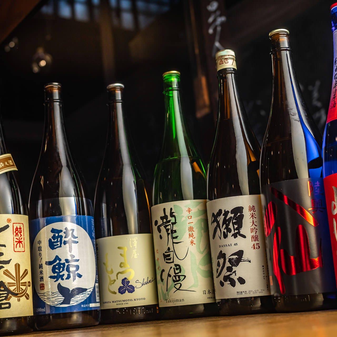 全国各地から取り寄せたこだわりの日本酒がおすすめです