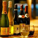 豊富なワインも魅力です