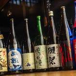 日本酒にこだわりあり!各地の銘柄を取り揃えております